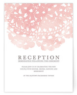 Watercolor and Doilies Reception Cards