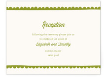 Simple Scallop Reception Cards