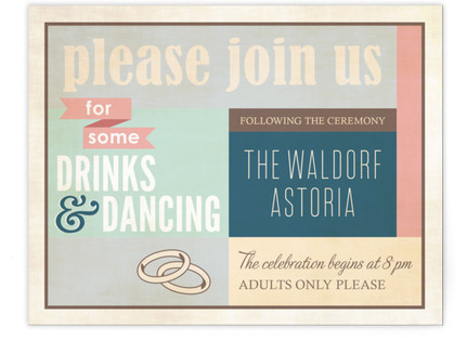 Eclectic Reception Cards