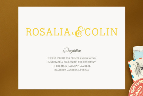 Traditional Tequila Reception Cards