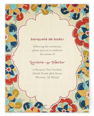 Las Flores Bonitas Reception Cards