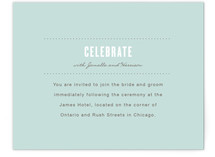 Sweet Chic Reception Cards