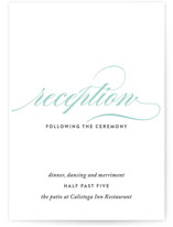 Cordial Flourish Reception Cards