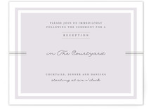 Three Classic Lines Reception Cards