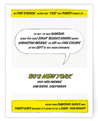 A Comic Book Love Story Reception Cards