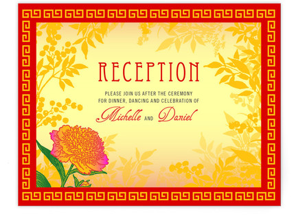 Red Envelope Reception Cards