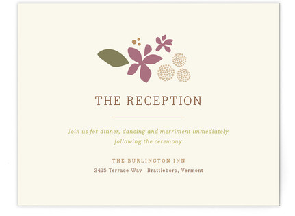 Poppies and Peonies Reception Cards