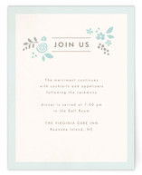 Pink Blossoms Reception Cards