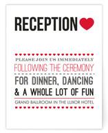 Vegas Type Reception Cards