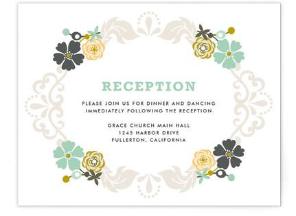 Floral Frame Reception Cards