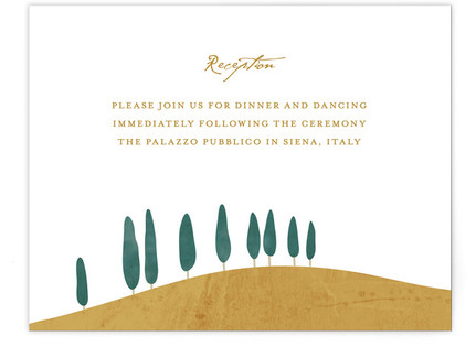 Tuscan Hill Reception Cards