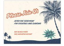 Retro Hawaii Reception Cards