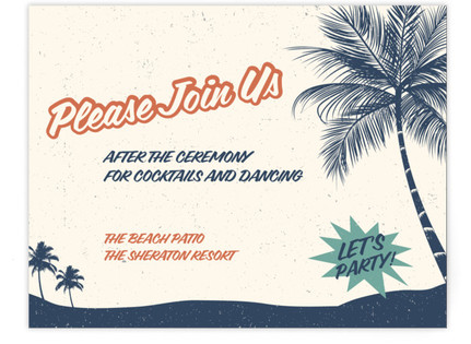 Retro Hawaii Reception Cards
