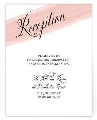 Awash Watercolor Reception Cards