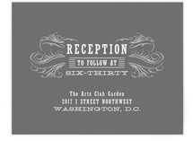 Antique Chalkboard Reception Cards