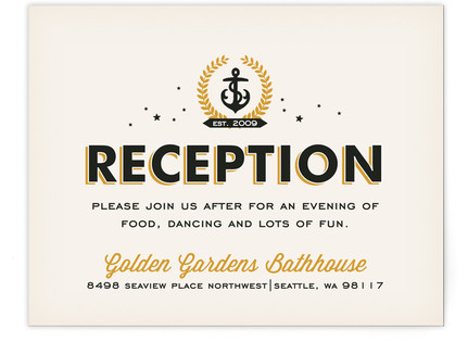 Ballard Nautical Reception Cards