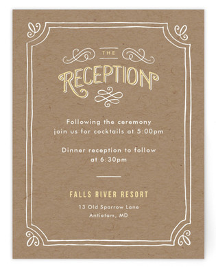 Hand Delivered Reception Cards