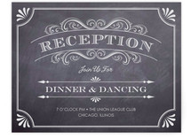 A Chalkboard Marriage Reception Cards