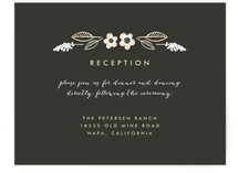 Botanical Wreath Reception Cards