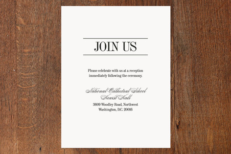 Classically Stacked Reception Cards