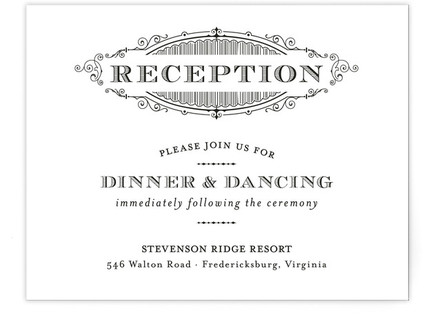 Eloquent Reception Cards