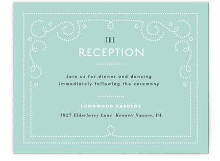 Bookbinder Reception Cards
