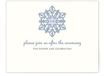 Winter Wedding Reception Cards