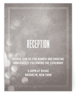Bokeh Bride Reception Cards