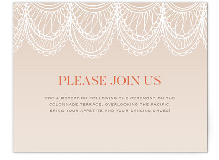 Mantilla Spanish Lace Reception Cards
