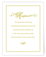 French Meringue Reception Cards