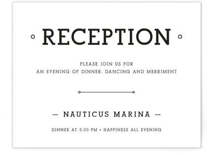 Established Union Reception Cards