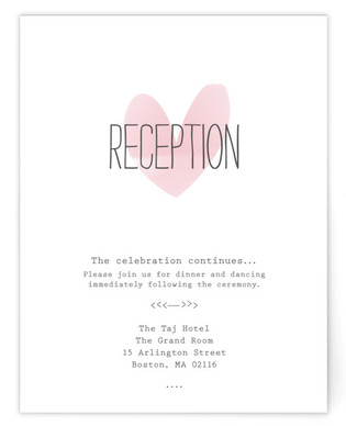 Typewritten Heart Reception Cards