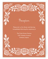 Block Printed Floral Reception Cards