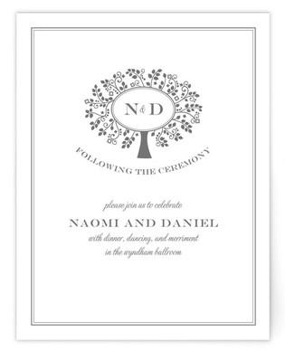 Wedding Boughs Reception Cards