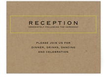 Vintage Kraft Reception Cards