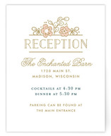 Country Florals Reception Cards