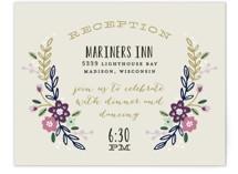 Wildflower Crest Reception Cards