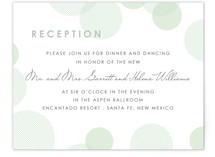 Blissful Bokeh Reception Cards