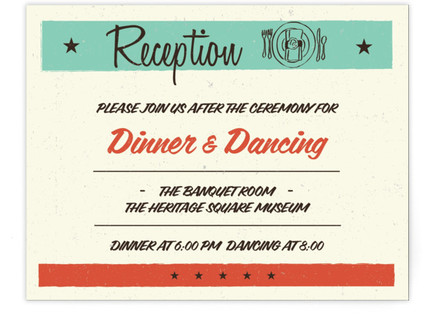 MidCentury Poster Board Reception Cards