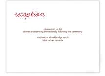 Better Together Reception Cards
