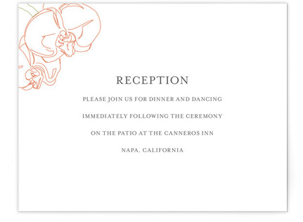 Beloved Orchid Reception Cards