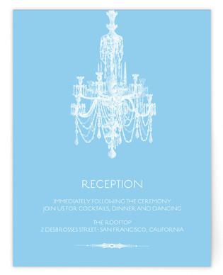 Chandelier Reception Cards