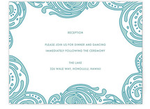 Contemporary Chic Reception Cards
