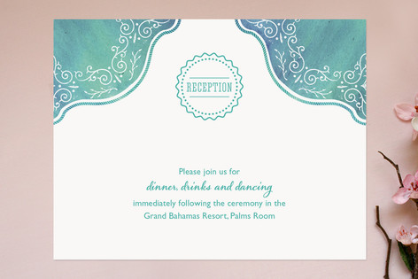 Splash of Paradise Reception Cards