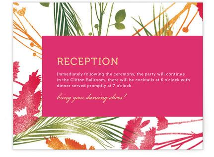 flower press Reception Cards