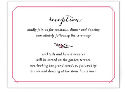 Grand Meadow Reception Cards