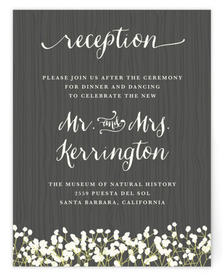 In Nature Reception Cards
