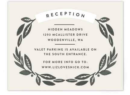 Painted Meadow Reception Cards
