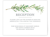 Simple Sprigs Reception Cards