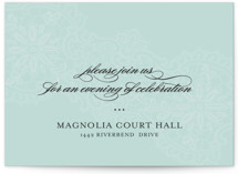 White Lace Reception Cards